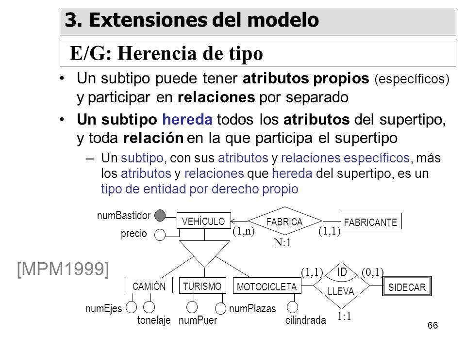 E/G: Herencia de tipo 3. Extensiones del modelo [MPM1999]
